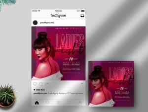 Party Night – Free Instagram PSD Template