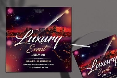 Party Night Free PSD Flyer Template