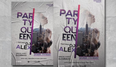Party Queen Free PSD Flyer Template