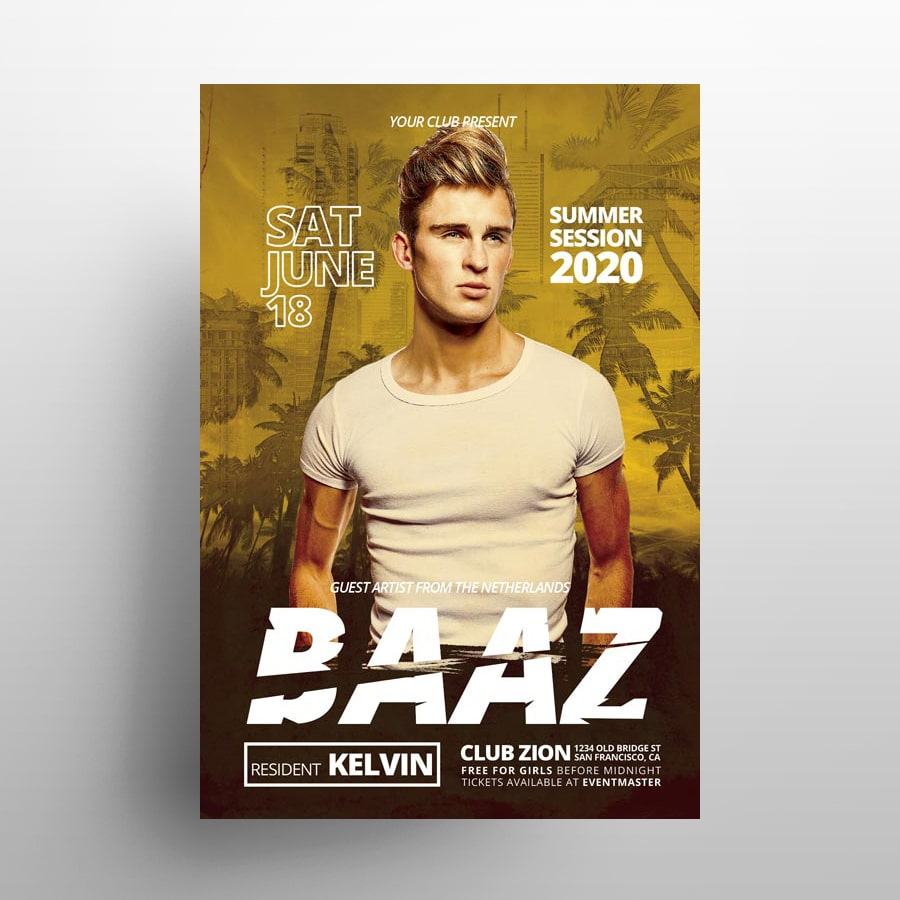 Party Zone PSD Free Flyer Template