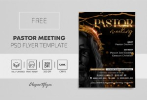 Pastor Meeting Free PSD Flyer Template