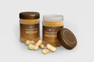 Peanut Butter Jar Free Mockup