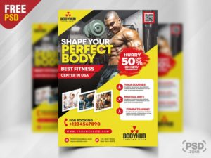 Personal Trainer – Free Fitness Flyer PSD Template