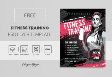 Personal Trainer PSD Free Flyer Template