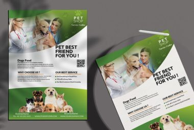 Pet Shop PSD Free Flyer Template