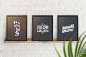 Posters on Shelf Free Mockup
