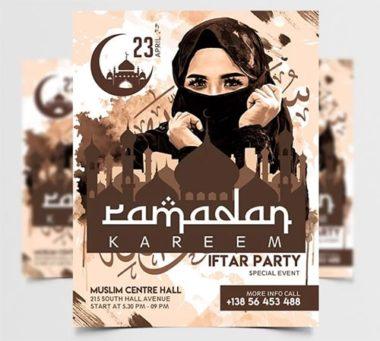 Ramadan Kareem 2020 PSD Freebie Flyer Template
