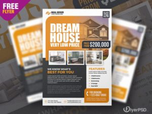 Real Estate Ad PSD Free Flyer Template