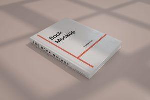 Realistic Book Cover Free Mockup