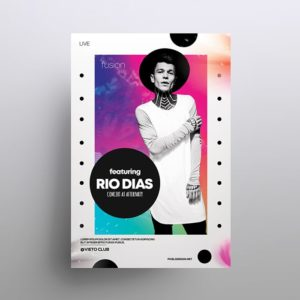 Rio – Abstract Colorful Free PSD Flyer Template
