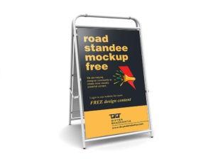 Road Standee Free Mockup