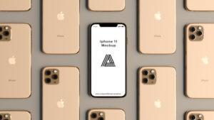 Rose Gold iPhone 11 Showcase Free Mockup