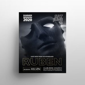 Ruben – Free Party PSD Flyer Template