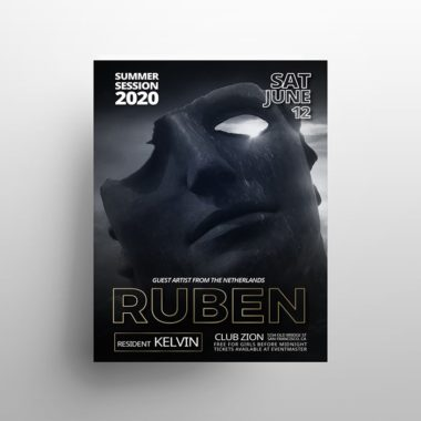 Ruben - Free Party PSD Flyer Template