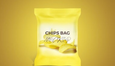 Simple Chips Bag Free Mockup