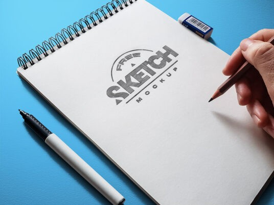 Sketch Drawing Free Mockup Set