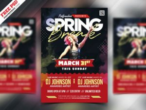 Spring Break Concert PSD Free Flyer Template