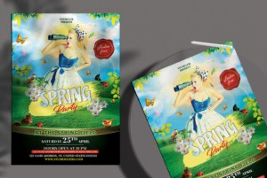 Spring Day Party Free PSD Flyer Template