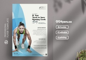 Sprint Run Fitness Free PSD Flyer Template