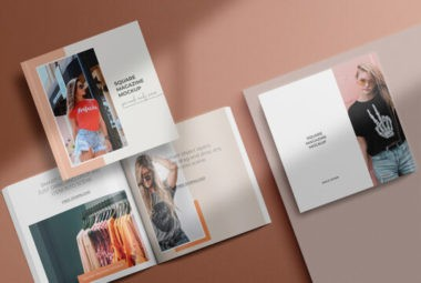 Square Magazine Free Mockup Bundle