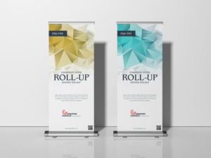 Stand Roll-Up Banner Free Mockup