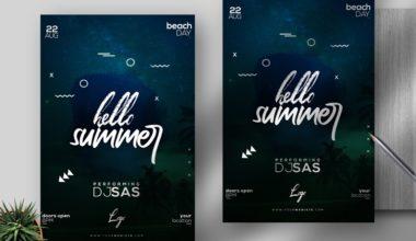 Summer Event Free PSD Flyer Template v3