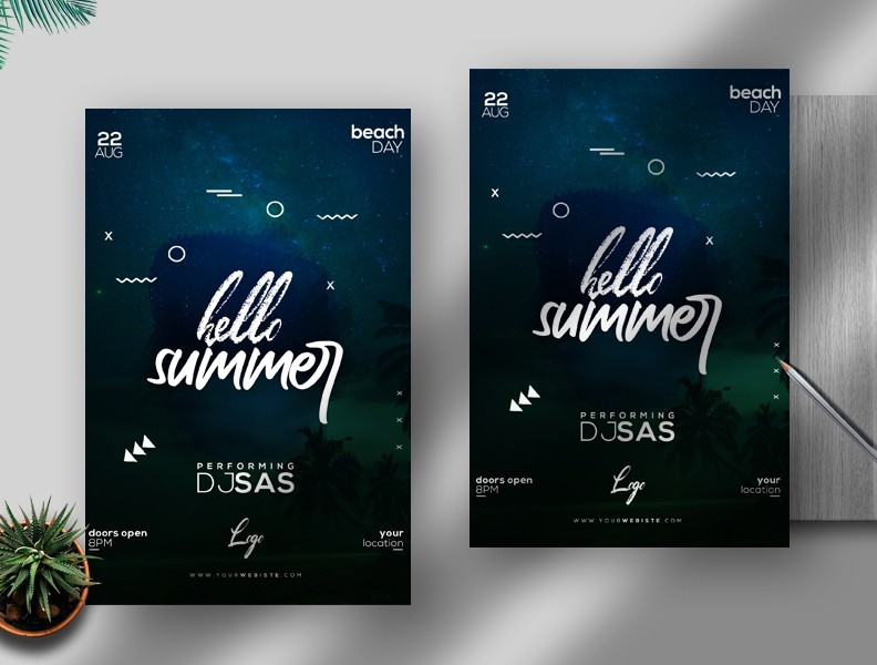 Summer Event Free PSD Flyer Template v3