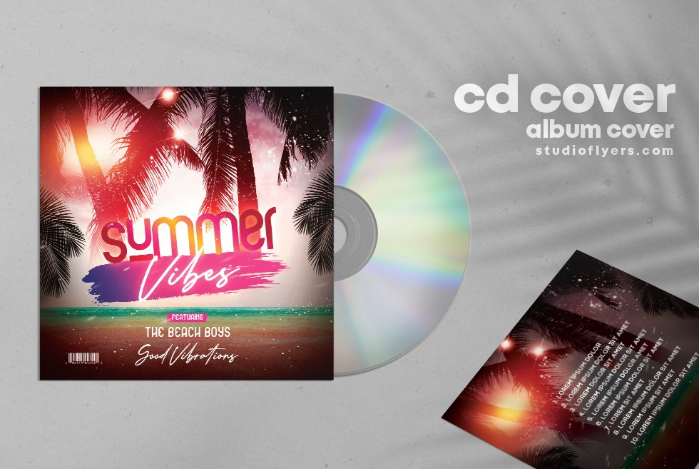 Summer Remix Free CD Cover PSD Templates