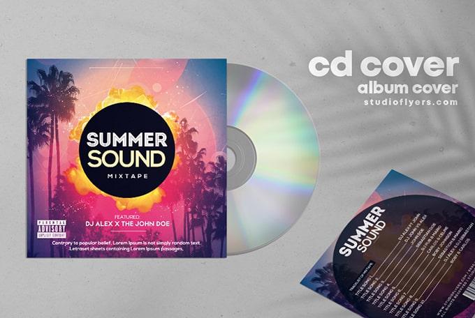 Summer Tropical Mixtape Free CD Cover Vol2