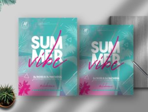 Summer Vibe Flyer Free PSD Template vol5
