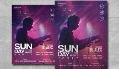 Sunday Night Free PSD Poster Template