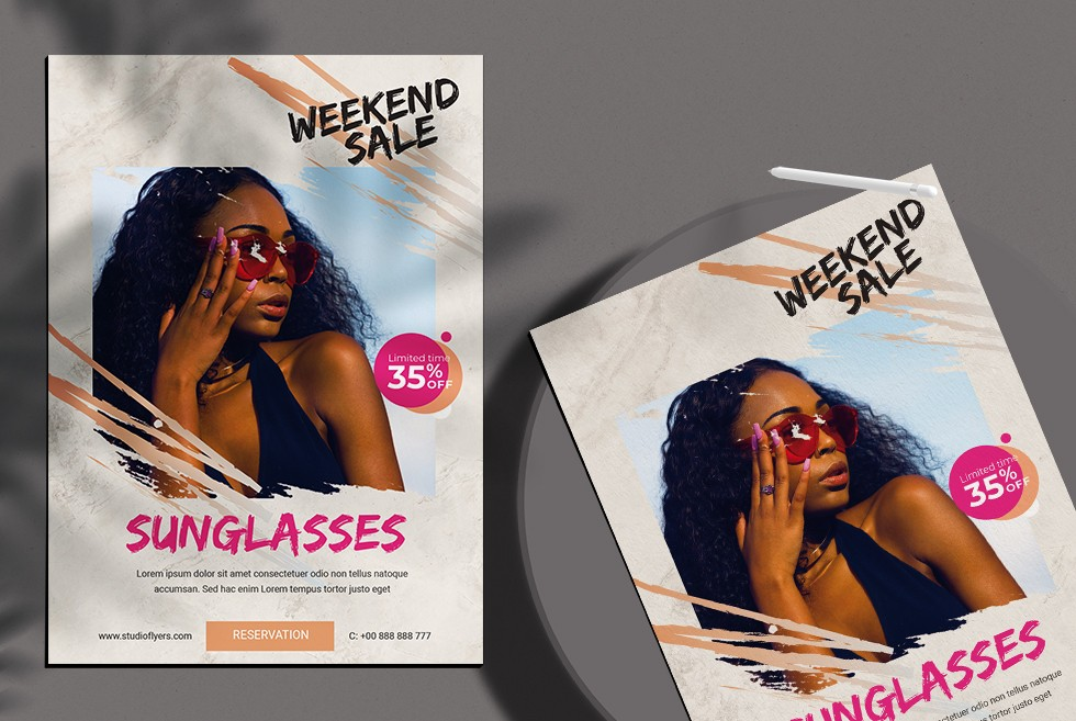Sunglasses Sale - Free PSD Flyer Template