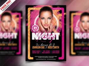 The Club Music PSD Free Flyer Template