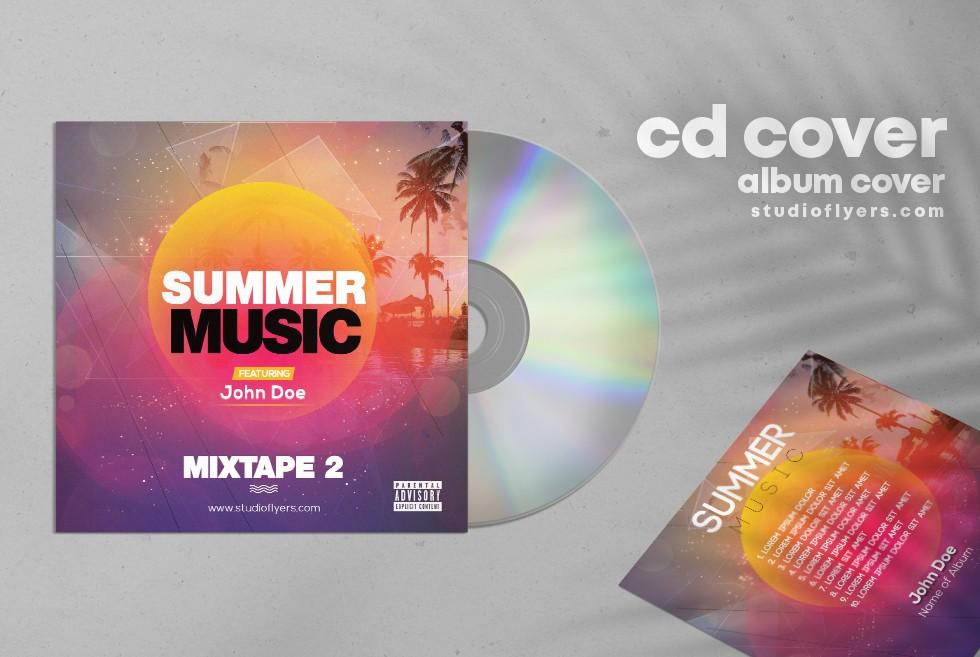 Tropical Mixtape Artwork Free PSD Template