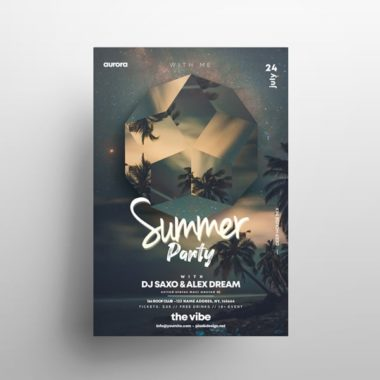 Tropical Night Freebie PSD Flyer Template vol4