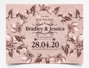 Vintage Wedding Invitation PSD Free Flyer Template
