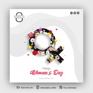 Women's Day Free Instagram Post PSD Template