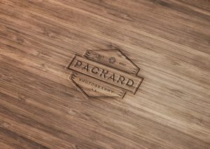Wood Engraved Logo Free Mockup