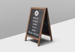 Wooden Sandwich Board Free Mockup