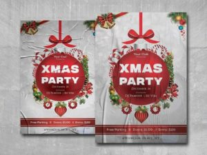 X-Mas Party Event PSD Free Flyer Template