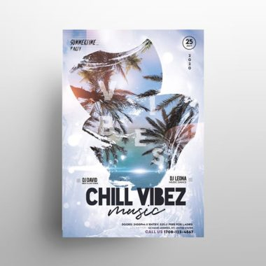 Summer Chill PSD Free Flyer Template