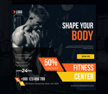4 Fitness Banners Set Free PSD Templates