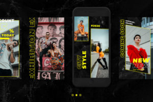 5 Freebie Fashion Instagram Story PSD Templates