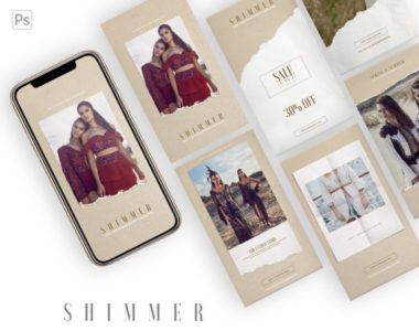 6 Free Summer Instagram Story PSD Templates