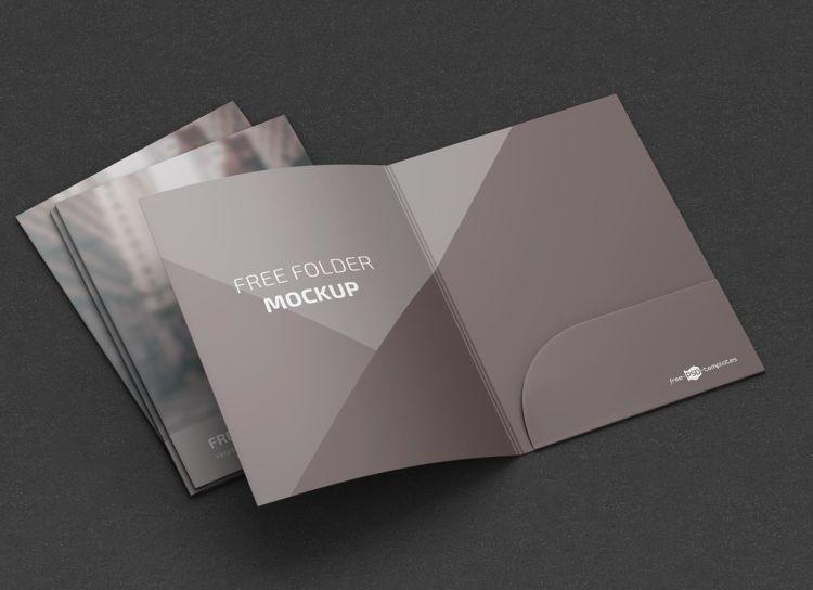 A4 Folder Free Mockup Set