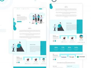 About Us Free Web Template in Adobe XD