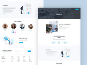 About Us Free XD & PSD Page Template
