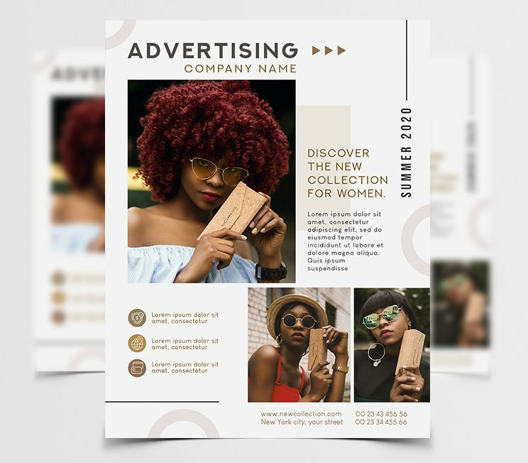 Advertising Business Free PSD Flyer Template