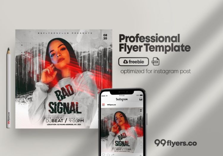 Announce Club Party Free PSD Flyer Template