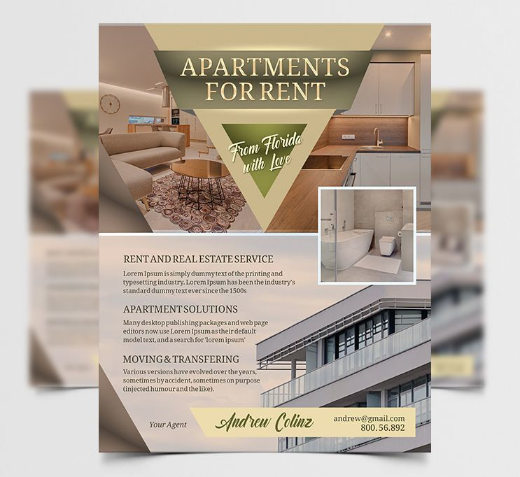 Apartments Ad Free Flyer PSD Template